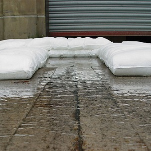 FloodSax used to contain water at an industrial premises