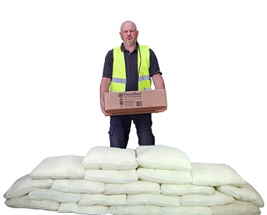 These 20 FloodSax alternative sandbags come from this one box